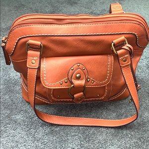 Boc Born Concept Saddle Leather Handbag Purse